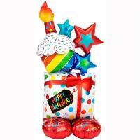 Шар фигура Happy Birthday Кекс