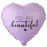 "Шар сердце ""YOU ARE BEAUTIFUL"""