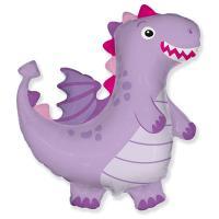 """Шарик фигура """"Дракон фиолетовый"""""""