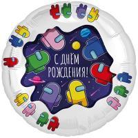 """Шар круг """"С ДР Космонавтики"""""""