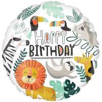 "Шар ""Happy Birthday Лев и друзья"""