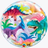 """Шар BUBBLE """"Динозавры разноцветные"""""""