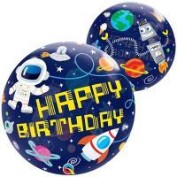 """Шар BUBBLE """"Birthday Космос"""""""