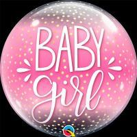 """Шар BUBBLE """"Baby Girl конфетти"""""""