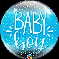 "Шар BUBBLE ""Baby Boy конфетти"""