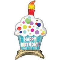 "Шар фольгированный ""Happy Birthday Кекс"""
