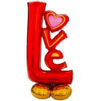 """Шар буквы """"LOVE красные"""""""