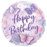 "Шар ""Happy Birthday бабочки"""