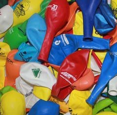 шарики с печатью ненадутые
